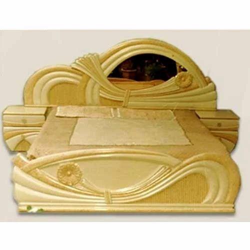Bedroom Furniture   Light Hand Carved King Size Bed Manufacturer From New  Delhi