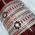Mahroon Beaded Bridal Chura