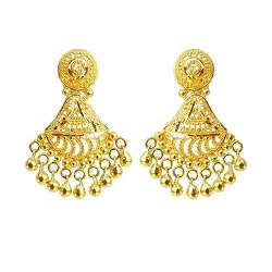 Gold Earrings View Specifications Details of Gold Earrings by