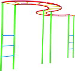 S Bridge Ladder Climber Playground Equipment