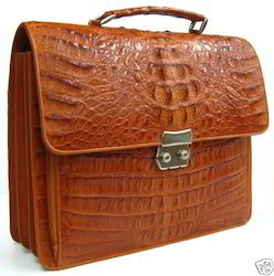 Crocodile Leather Portfolio Bag
