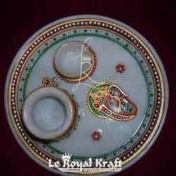 Marble Meenakari Pooja Thali