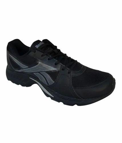 Reebok Black Synthetic Leather Sport