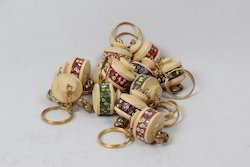 Wooden Key Rings with Lac Work