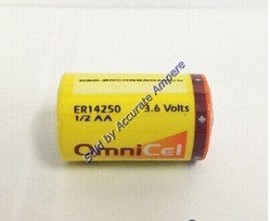 Omnicell 1/2 AA Er14250 3.6v Lithium Lisocl2 Battery