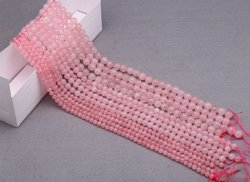 Stone Pink Rose Quarts Mala, Packaging Type: Packet, Size: 5 - 10 Mm