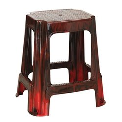 Maroon Plastic Rectangular Stools, Length: 370 mm, Height: 540 mm