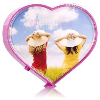 Heart Shaped Rotating Photo Frame Skunk Online Retail New Delhi