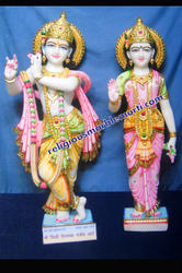God Marble Statue Radha Krishna