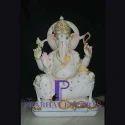 White Marble Ganesha Statue