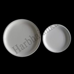 White Round Acrylic Plates