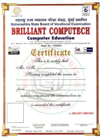 Awards & Memberships of Brilliant Computech Mhadgut Shorthand Typing ...