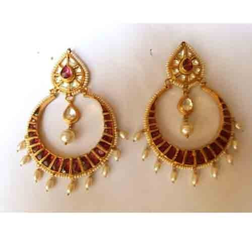 Chand Bali Earrings Online Gold Plated Bollywood Earring Set