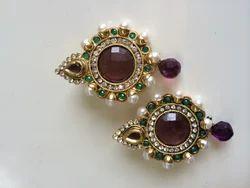 Pearl Purple Earrings