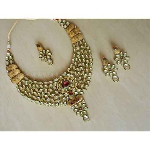 Indian Bridal Jewellery Set22k Gold Plated Handmade Teenas