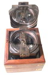 Antique Compass With Box