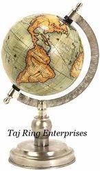Nautical Nickel Finish Globe