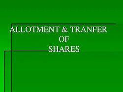 Allotment Of Shares Advisory Service