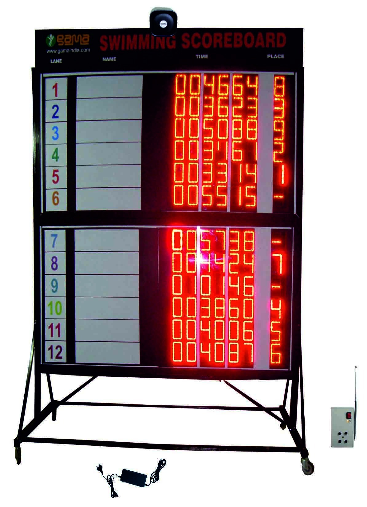 Swimming Scoreboard, Shape: Rectangle