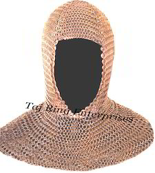 Antique Chain Mail Coif