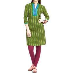 Earthy Green Printed Kurta