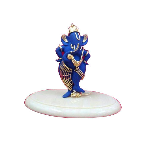 Lord Ganesha Idols Gold Plated Blue Lord Ganesha