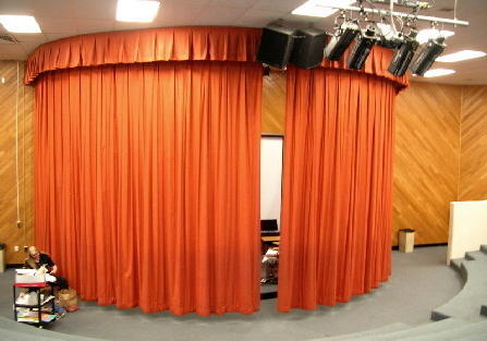 Round Motorized Stage Curtains | Paras Association | Service ...