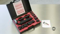 Bearing fitting tool kit and hole punch set