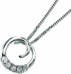 Diamond Sterling Silver Pendant