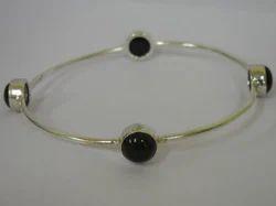 Black Onyx Gemstone Bracelet Stud