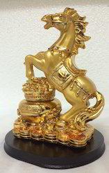 Feng Shui Vastu Big Gold Horse Fame