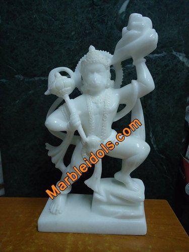 Marble Hanuman Statue White Stone Hanuman Marble Statue