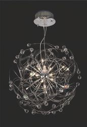 Messe Pendant 24 Light Polished Chrome/Crystal