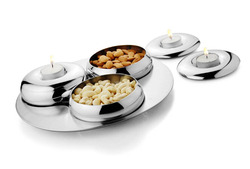 3 Pcs Belly Condiment Bowl with Lid & Tray