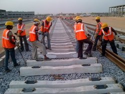 Laying And Linking Of Metro Railway Track
