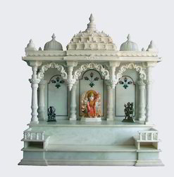Indoor White Indian Makrana Marble Temple, Size: 18 Inch, for Home