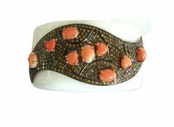 Modern Style Diamond Cuff