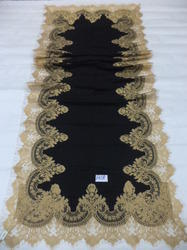 Fine Wool With Heavy Zari Lace Border Shawls