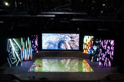 Stage Background Led Display Rental Laser Ads Chennai