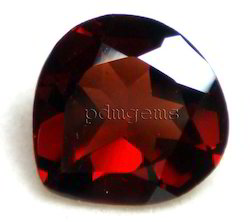 Garnet Faceted Heart Gemstone For Pendant