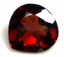 Garnet Faceted Heart Gemstone For Pendant