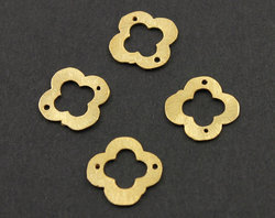 Gold Vermeil Sterling Silver Clover Connector