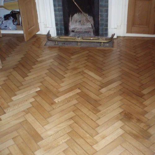 Chevron Floors Floors Now: Brown Oak Wood Herringbone Laminate Flooring, Rs 150