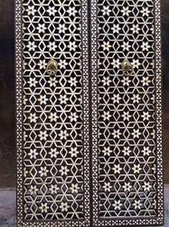 Decorative Jali Door Inlay Work
