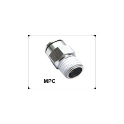 Pneumatic / Pu Metal Male Straight Connector