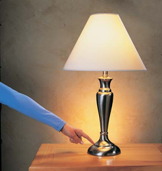 Crystal And Chrome LED Fancy Lamps, 3-40W