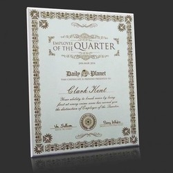 employee of the quarter month oyster white engraved craftby