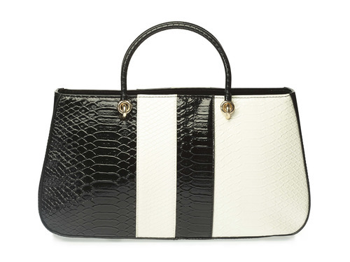 Paprika Bag With Monochrome Stripes, हैंडबैग - Lifestyle ... 33e731e1d9