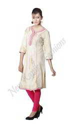 Printed Long Cotton Kurti