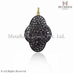 Pave Diamond Gold Pendant